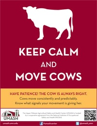 Keep Calm and Move Cows Poster (v2)