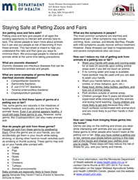 Staying Safe at Petting Zoos and Fairs