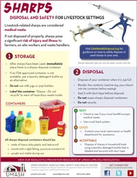 Sharps Disposal and Safety for Livestock Settings Image