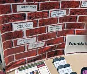 Farm safety foundations brick wall