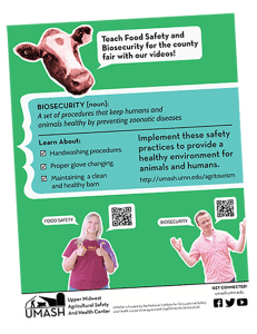 4-H Biosecurity and Food Safety Promotional Flier