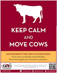 Keep Calm and Move Cows Poster - Version 2 Image
