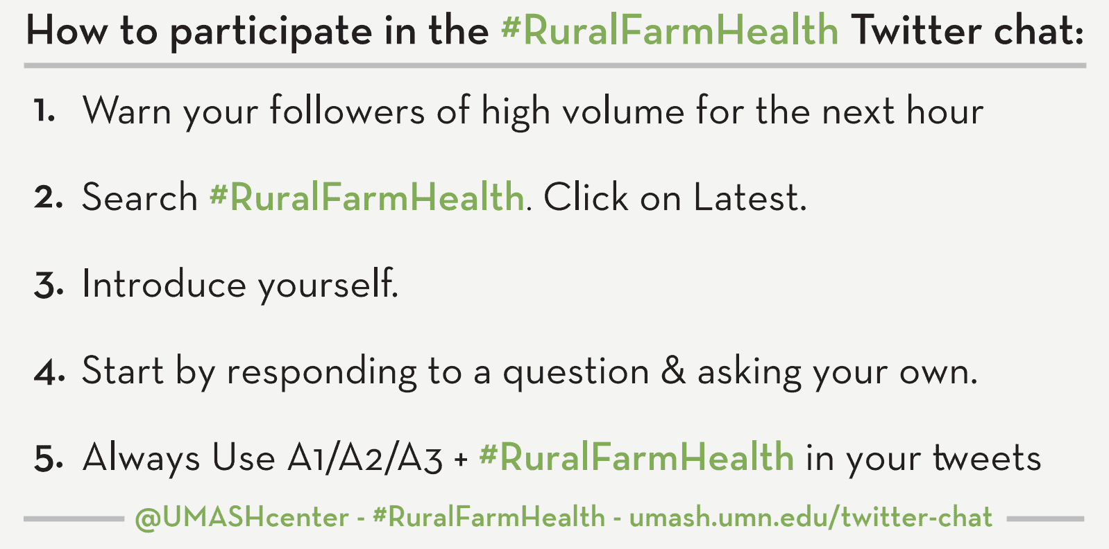 Rural Farm Health Instructional Card
